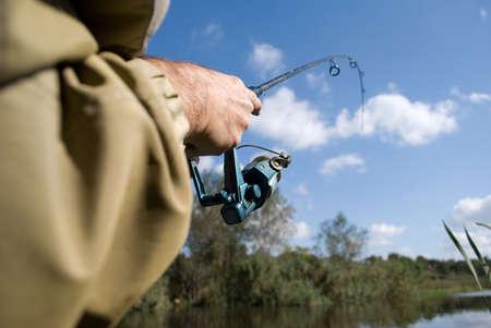 hooking:  hooking fish