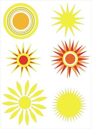 set of sun vector Stock Vector - 5143322
