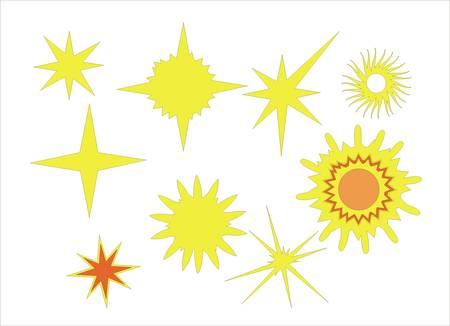 set of sun vector Stock Vector - 5143316