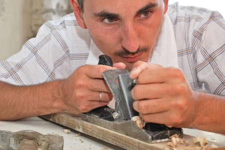 a portrait of a workman photo