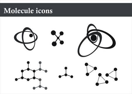 biologia molecular: mol�cula de iconos