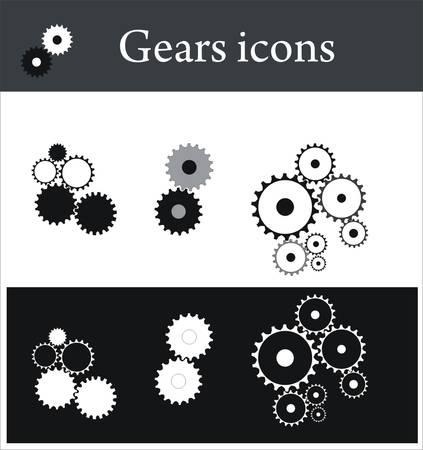 ベアリング: 歯車のアイコン  イラスト・ベクター素材