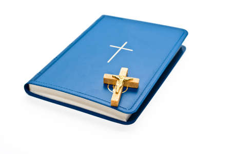 Book and cross Stock Photo - 5259397
