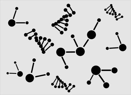 molecule icons Stock Vector - 5466324