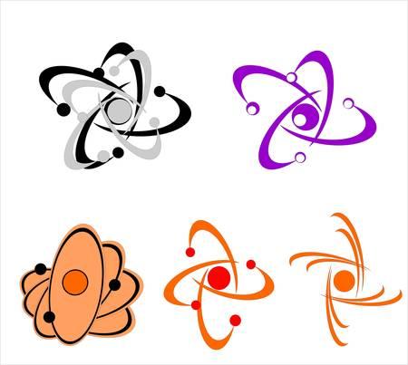 molecule icons Stock Vector - 5469722