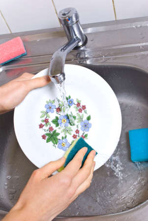 wash the dishes Stock Photo - 5557864