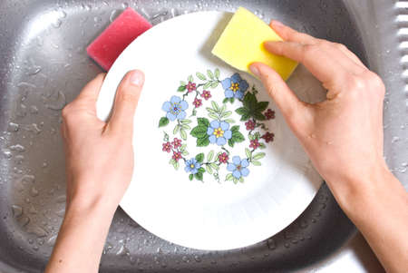 wash the dishes Stock Photo - 5557858