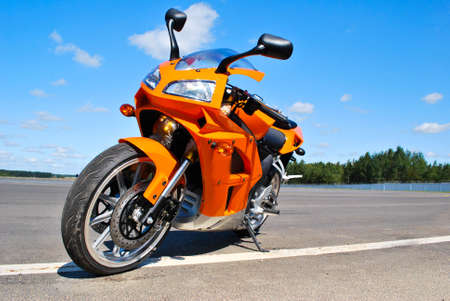 Single motorcycle parking Stock Photo - 5558535