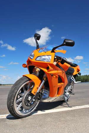 Single motorcycle parking Stock Photo - 5558531