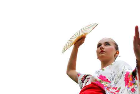 caucasian model dressed up in traditional japanese clothing Stock Photo - 5558544