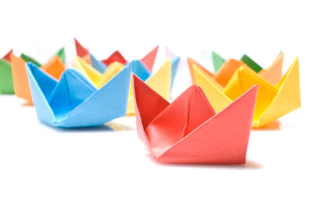 Paper boats Stock Photo - 5665529