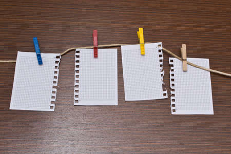 business metaphore: Papers  for notes Stock Photo