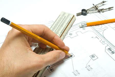 dibujo tecnico: Diversas herramientas de dibujo y