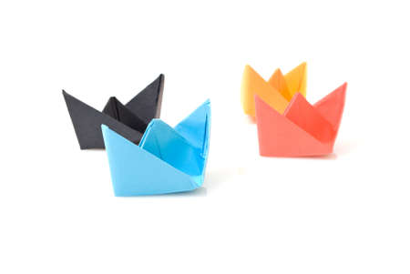 Paper boats photo