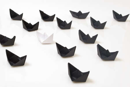 Paper boats Stock Photo - 5852140