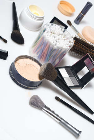 grooming product: Professional make-up tools Stock Photo