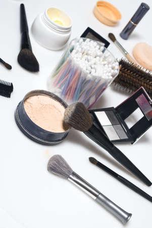 eye care professional: Professional make-up tools Stock Photo