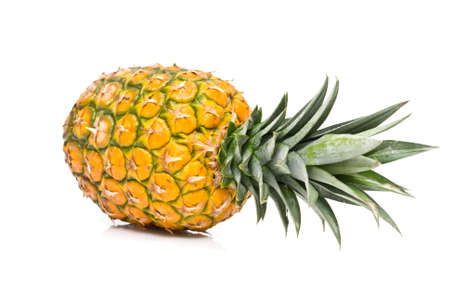 Closeup shot of an isolated pineapple photo