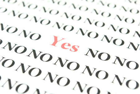 Yes and no Stock Photo - 6259262