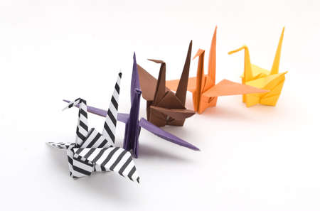 origami birds on a white background Stock Photo - 6571335