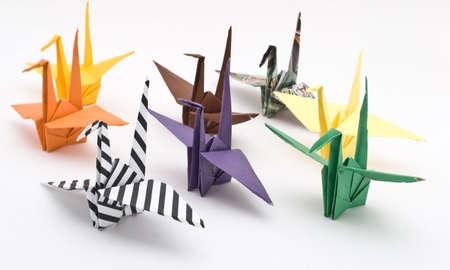 origami birds on a white background Stock Photo - 6571307