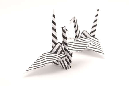 origami birds on a white background Stock Photo - 6571269
