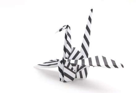 origami bird on a white background Stock Photo - 6571311