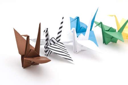origami birds on a white background Stock Photo - 6571336