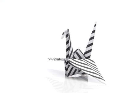 origami bird on a white background Stock Photo - 6571355