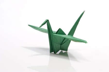 origami bird on a white background Stock Photo - 6571270