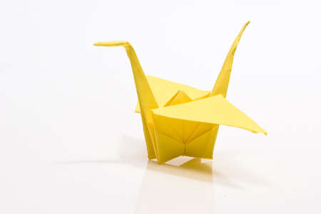 origami bird on a white background Stock Photo - 6571281