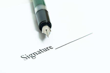 signature and pen photo
