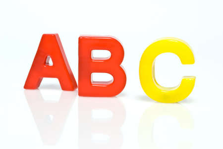 letters ABC on white background photo