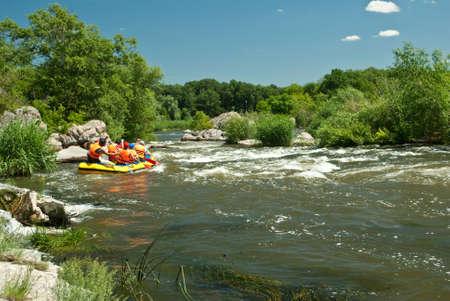 Kayaking. Rafting. photo