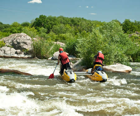 Kayaking. Rafting. photo