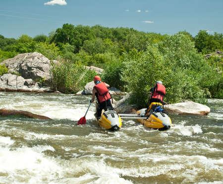 Kayaking. Rafting. Stock Photo - 7139956