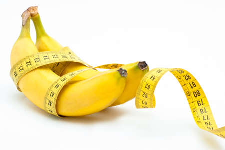 eating banana: Banana Diet Stock Photo