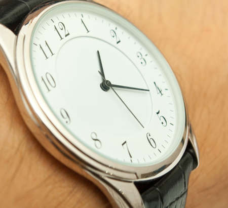 close up shot of a wrist watch... Stock Photo - 7409787