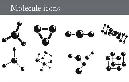 Molecule icons Vector