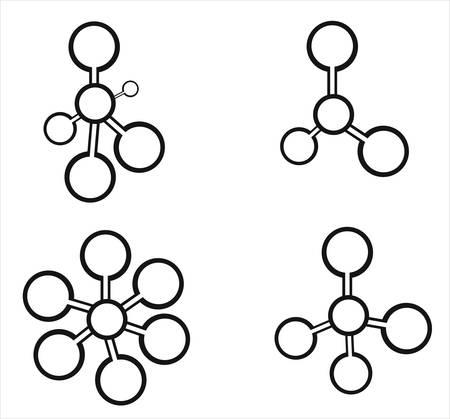 Molecule icons Stock Vector - 7471179