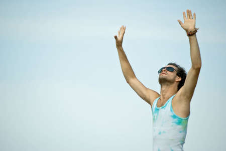 Man with his arms wide open Stock Photo - 7725723