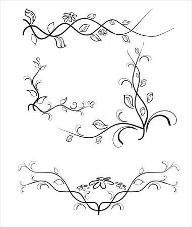 Vintage patterns for design. Vector