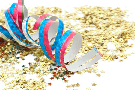 close up of confetti on white background Stock Photo - 8100277