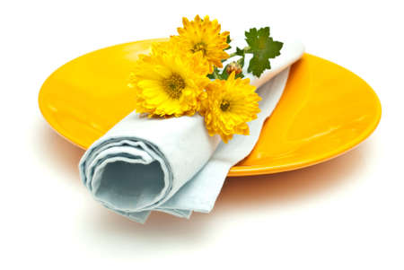 Table setting with flowers Stock Photo - 8100308
