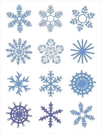 Snowflake winter set illustration