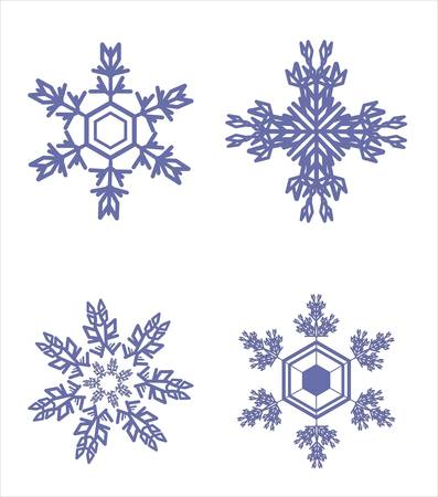 Snowflake winter set illustration Stock Vector - 8956439