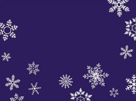 Snowflake winter set illustration Stock Vector - 8962377