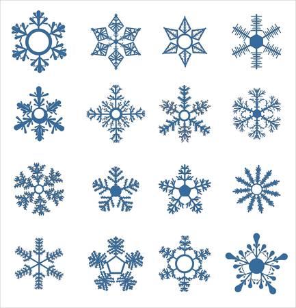 Invierno de copo de nieve establece ilustración