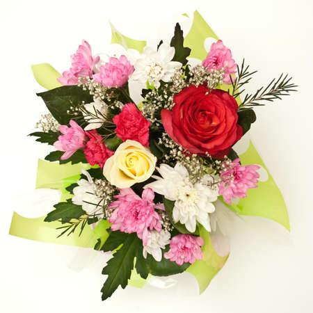 petites fleurs: fleurs sur le fond blanc