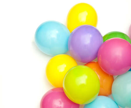 color balloons isolated on white Stock Photo - 9032196